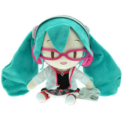 """Wholesale hatsune doll - EMS New 9"""" 23CM VOCALOID Miku Hatsune Stuffed Doll Japan Anime Collectible Dolls For Kids Gifts Soft Plush Toys"""