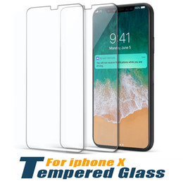 Wholesale finger back - Tempered Glass For iPhone x Screen Protector 9H Hardness Protective film Customized Anti-finger Front & Back Protector Glass without Package