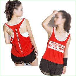 Wholesale Sexy Women S Sports Jerseys - Wholesale-Women Boxing Jerseys Polyester Mesh Yoga Singlet Sexy Sports Tank Top Quick Dry