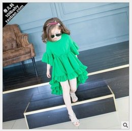 Wholesale Sale Wholesale Brand Clothing - 2016 New Hot Sale Summer Fashion Girl Princess Dress Children Clothing Cute Girls Dresses Kids Clothing 5pcs lot