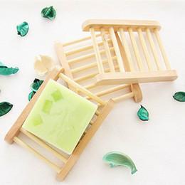 cajas de madera para el envío Rebajas Envío gratis 100 unids jabonera de madera natural plato de bandeja de jabón de madera titular de almacenamiento de jabón plato de la caja contenedor para baño plato de ducha baño