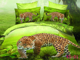 Wholesale Leopard Print Comforter Set Cotton - New Arrrival Bedding Sets Polyester Cotton 3D Printed Leopard Six Pieces Bedding Supplies With Three Kind Sizes Can Choose