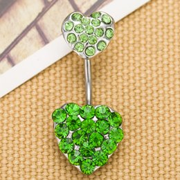 Wholesale Dangling Accessories - 0204 mix colors heart style belly ring style Belly Button ring Navel Rings Body Piercing Jewelry Dangle Accessories Fashion Charm 10PCS
