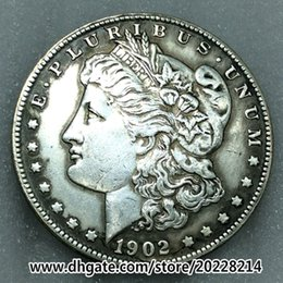 Wholesale Antiques Free Shipping - 1902-O US Morgan Silver Dollar replica high quality Free shipping 27g 38mm Brass plated with silver