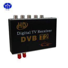 Wholesale Dvb T Digital Tv Box - Auto Parts car TV box Car HD DVB-T MPEG 2 Antenna Car TV Receiver Automobile Digital TV Tuner