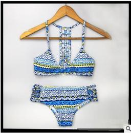 Wholesale Thongs Cutouts - floral Cutout String Bandage bikini Set Brazilian bikini split pants new sexy women string thong bikini halter floral Europe 2016 DHL free