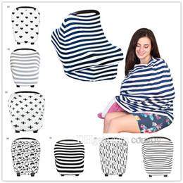 Wholesale Stroller Covers - Baby Car Seat Canopy Cover Breastfeeding Nursing Scarf Cover Up Apron Shoping Cart Infant Stroller Sleep By Nursing Cover Blowout MPB10