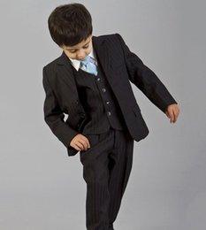 Wholesale Boys Royal Blue Vest - Custom Made 2016 Bearer Suits trend Boys Tuxedo kids formal dress boys suits fashion kids suits (Jacket+Pants+Tie+Vest)