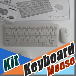 Wholesale Film Settings - 50PCS 2.4G White Wireless PC Keyboard + Mouse Keypad Film Kit Set For DESKTOP PC Laptop D-JP