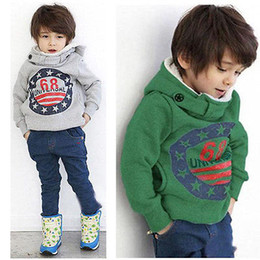 Wholesale Kids Hooded Sweaters - Baby Boys Kids' Thick Coat Tops Hoodies Jacket Sweater Outwear Pullover 2-7Y