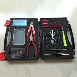 Wholesale Diy Cigarette Case - Unique design DIY E cig tool Bags Coil Terminator Tool DIY Kit Electronic Cigarettes Case Bags with free shipping