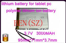 2019 li 3.7v comprimido 3.7V 3000mah (bateria de iões de lítio de polímero) bateria Li-ion para tablet pc 7 polegadas MP3 MP4 [377195] li 3.7v comprimido barato