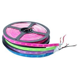 Laranja levou flexível tira impermeável on-line-New orange azul rosa roxo cor verde 5050 smd cola neon faixa de luz flexível à prova d 'água 60LED / m 5 m / lote ao ar livre