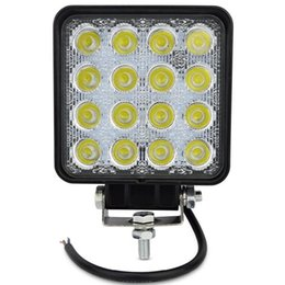 Wholesale Marine Flood Lights - Square 48W Led Work Light 12V-24V 16LEDs, Flood Truck Driving Fog Lamp for Tractor Marine ATV UTV SUV Jeep Boat