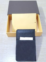 Wholesale Open End - High-end quality hot sale fashion designer new arrival men card holders Four colors women credit card purse wallet holders