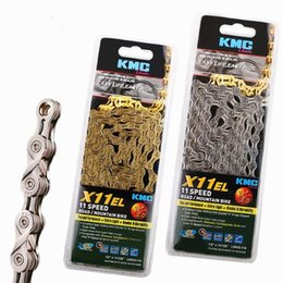 Wholesale Chain Speed - 114 links kmc l x11el extra super light mtb race Bicycle Chains Cycle Chain Diverter 11 Speed Mountain Bike Road Chain