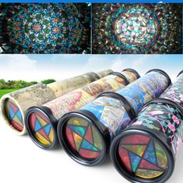 Wholesale Wholesale Kaleidoscope Toy - Wholesale- 21cm Rotation Cute Classic Colorful Kaleidoscope Kids Fancy early Childhood Toys For Baby Children Gift