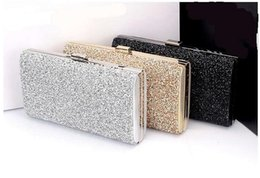 Wholesale korean gold diamond - $19 Woman Evening bag Women Diamond Rhinestone Clutch Crystal Day Clutch Wallet Wedding Purse Party Banquet Black Gold Silver