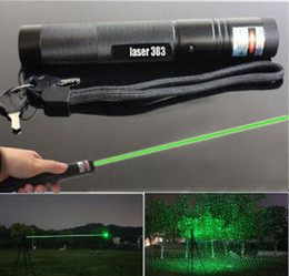 Wholesale Focus Pens - 2017 New Laser Pointers 303 Laser Pointer Pen 5mW High Power Adjustable Focus Green Red Purple Ligh without battery
