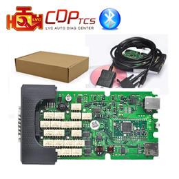 Wholesale Xtool Truck - A+ high Quality Single Green board CDP TCS cdp Pro plus Bluetooth 2015.R3 Keygen software cars Trucks OBD2 scan Diagnostic tool