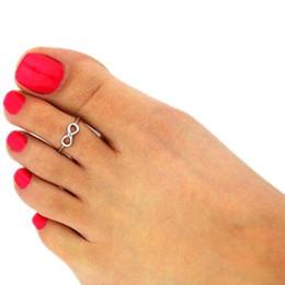 Винтажные кольца для ног онлайн-Новые женские Toe Rings Vintage Infinity Midi Finger Ring Уникальное золото Silve Костяшки Кольца для ног Ювелирные Изделия Пляж Ретро Стильный Ювелирные Изделия Тела Бесплатно DHL