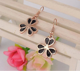 Wholesale Three Leaves Clover - Clover Earrings Stud Earring Gold Plated Three Leaves Earrings Wedding Jewelry Earring for Women Chandelier Earrings