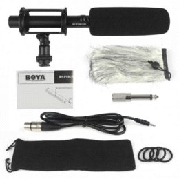 Wholesale Condenser Microphone Xlr - Pro BOYA Condenser Shotgun Microphone BY-PVM1000 3-pin XLR Output on DSLR Camera Cheap camera recorder