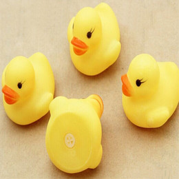 Wholesale Rubber Duck Cartoon - Cheap wholeslea Baby Bath Water Toy Yellow Duck Toys Sounds Yellow Rubber Ducks Kids Bathe Swiming Beach Gifts