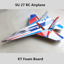 Wholesale Planes Kits - Brand new brushless motor rc planes su 27 models radio controlled airplanes kt foam board electric rc glider plane dhl shipping