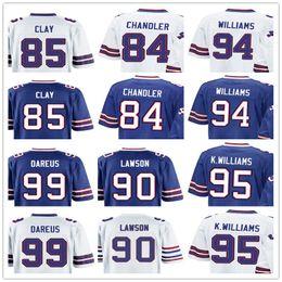 Wholesale Clay Mario - custom Buffalo Men jersey Bill 84 Scott Chandler 85 Charles Clay 90 Shaq Lawson 94 Mario Williams 95 Kyle Williams 99 Marcell Dareus game