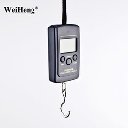 Wholesale Luggage Scale Wholesale - DHL 100PCS New 20g 40Kg Mini Portable Electronic Balance Digital Hanging Scale Lage Fishing Baggage Weight Steelyard LCD
