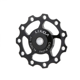 Wholesale Alloy Bicycle Wheel - LIXADA 11T Guide Roller Pulley Jockey Wheel Bicycle Parts Professional Alloy MTB Mountain Bike Road Cycling Rear Derailleur