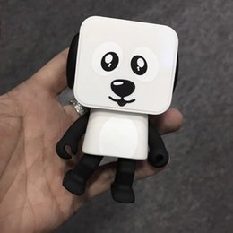 Wholesale Christmas Presents For Kids - Bluetooth Dancing Speakers Toys Mini Cubic Puppy Dog Robots Cute Action Figures Christmas Gifts for Kids Presents