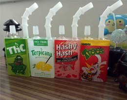 Wholesale Liquid Smoke Oil - 2016 Oil Rigs Glass Bongs 3 Colors Liquid Sci Box Glass Water Pipes With Smoking Accessories Banger Nail And Carb Cap