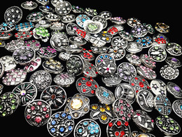 Wholesale Wholesale Bulk Sales - wholesale Bulk Lots Mix Designs 18mm Snap Buttons Charm Chunk Ginger Interchangeable copper alloy Snaps Jewelry Brand New Hot Sale