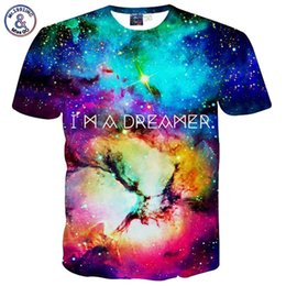 Wholesale Sell 3d Tshirt - x201710 Mr.1991INC Hot Selling Men's t shirt 3d print letters I AM A DREAMER stars clouds short sleeve casual t-shirt galaxy tshirt B40