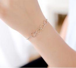Wholesale Geometric Bracelets - New Ladies Women Girls Teens 925 Sterling Silver White Ceramic Fashion Romantic Boutique Lobster-claw-clasps Chain Bracelet Geometric Circle