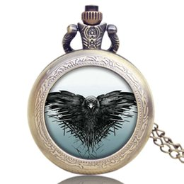 Wholesale Ice Women Watches - All Men Must Die A Song of Ice and Fire The Game of Thrones Design Pocket Watch Necklace Gift for Men Women P1194
