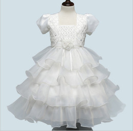 new kids evening gown Coupons - Children clothing summer 2017 new formal evening princess party beaded layered dresses sleeves wedding for girl kids 2 pieces