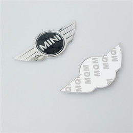 Wholesale Mini Emblem - 20Pcs lot Mini COOPER S Metal 12*5cm BADGE Emblem F56 R50 R56 R53 R52 REAR Car Styling Auto Accessories