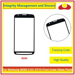 Wholesale Galaxy S2 Epic 4g Touch - For Samsung Galaxy S2 II Epic 4G D710 And S4 ZOOM C101 S4 Active i9295 i537 Front Outer Glass Lens Touch Screen Panel