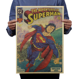 Wholesale Graphics Posters - Superman Returns Large Vintage Style Decorative Painting Retro Paper Poster Superman 21*13.8in(53*35.5cm)