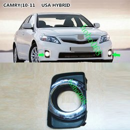 Wholesale Car Cover Camry - 2x lot For Toyota Camry HYBRID 09-11 Car Front Fog Light Covers LH&RH No Bulbs DIY