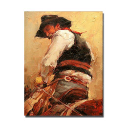 Wholesale Abstract Horse - Ride Horse Oil Painting Living Room Wall Decor Hand Painted Pictures on Canvas Decorative Painting Big Size No Framed