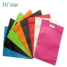 Wholesale Dotted Paper - 200 pieces Custom logo printing Non-woven bag   totes portable shopping bag for promotion and advertisement 80g fabric