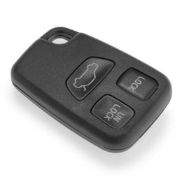 Wholesale Volvo Key Remote Fob - 3 Buttons Remote Fob Car Key Shell for Volvo S70 V70 C70 S40 V40 XC90 XC70 New Replacement Uncut Blade Car Key Case Cover