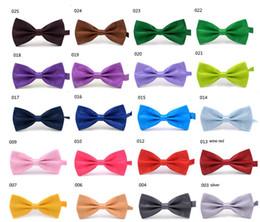 Wholesale Dark Purple Silk Tie - Men's Women's Bowtie Bow Tie Solid Colors Plain Silk Polyester Pre Tied Ties For Party Wedding
