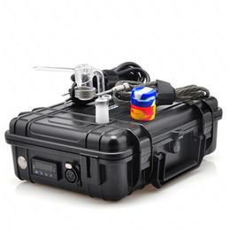 Controladores de agua caliente online-E Hot Clavo eléctrico Nail Box Kit completo E Controlador de temperatura con cuarzo Nail Carb Cap Kit para Bongs de vidrio pipa de agua