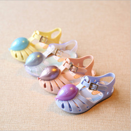 Wholesale Toddler Crystals Shoes - 2016 Mini sed Girls Sandals Cute Sandals for girls balloon crystal jelly sandals shoes for baby toddler little girls rain shoes