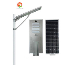 Wholesale Wholesale Induction Lighting - 25W 30W 50W 60W 80W 100W intergrated solar outdoor led spotlights streetlight lamp 3years warranty light control body induction Floodlight